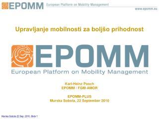 Upravljanje mobilnosti za boljšo prihodnost