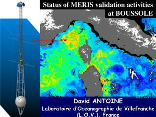 Status of MERIS validation activities
