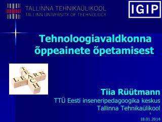 Tehnoloogiavaldkonna õppeainete õpetamisest