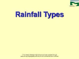 Rainfall Types