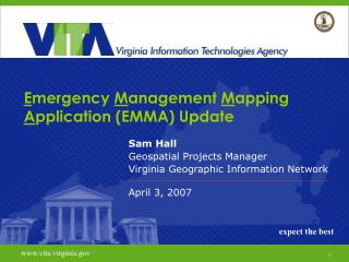 E mergency  M anagement  M apping  A pplication (EMMA) Update