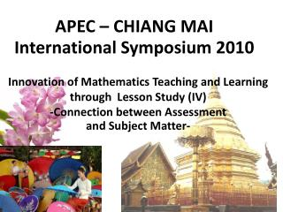APEC � CHIANG MAI International Symposium 2010
