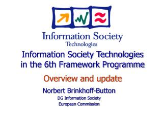 Norbert Brinkhoff-Button DG Information Society European Commission