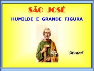 SÃO  JOSÉ HUMILDE  E  GRANDE  FIGURA