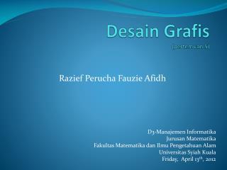 Desain Grafis ( pertemuan  5)