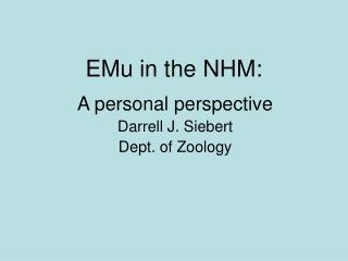 EMu in the NHM: