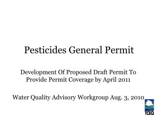 Pesticides General Permit