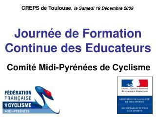 Journée de Formation Continue des Educateurs