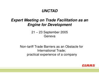 UNCTAD Expert Meeting on Trade Facilitation as an Engine for Development