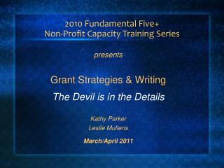 2010 Fundamental Five+  Non-Profit Capacity Training Series