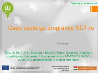 Csap eszterga programja  NCT-re