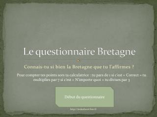 Le questionnaire Bretagne