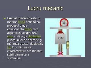 Lucru mecanic