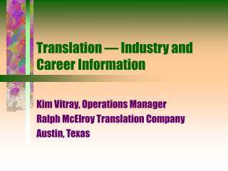 Translation   Industry and Career Information