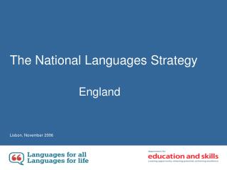 The National Languages Strategy
