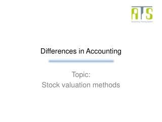 Differences in Accounting