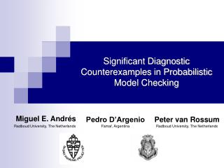 Significant Diagnostic Counterexamples in Probabilistic Model Checking