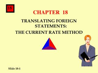 TRANSLATING FOREIGN STATEMENTS: THE CURRENT RATE METHOD