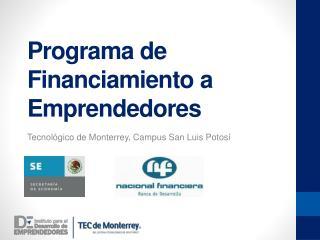 Programa de Financiamiento a Emprendedores