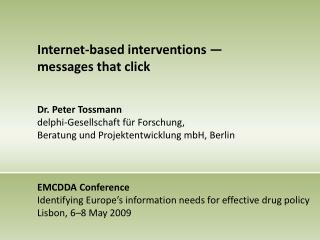 Internet-based interventions —  messages that click