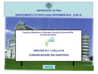 UNIVERSITA' DI PISA DIPARTIMENTO DI PATOLOGIA SPERIMENTALE , B.M.I.E.