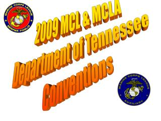 2009 MCL & MCLA  Department of Tennessee  Conventions