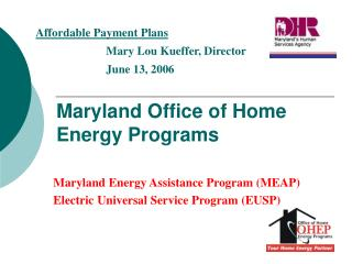 Maryland Office of Home Energy Programs