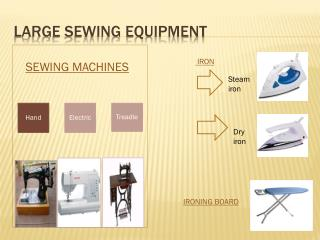 Large sewing equipment
