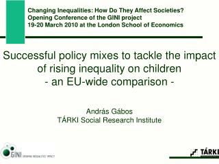 Successful policy mixes to tackle the impact of rising inequality on children