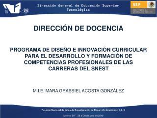 DIRECCIÓN DE DOCENCIA