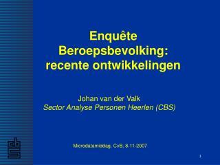 Johan van der Valk Sector Analyse Personen Heerlen (CBS)