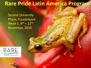Rare Pride  Latin America  Program