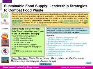 Sustainable Food Supply: Leadership Strategies to Combat Food Waste