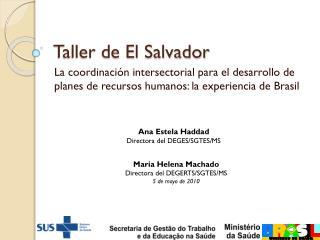 Taller de El Salvador