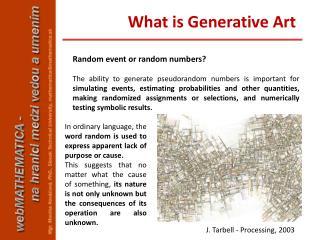 Random event or random numbers?