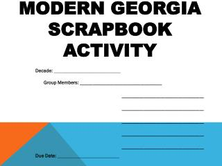 Modern Georgia  Scrapbook Activity