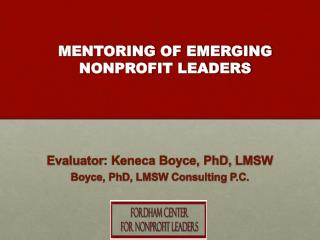 MENTORING OF EMERGING  NONPROFIT LEADERS