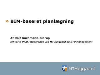 BIM-baseret planlægning