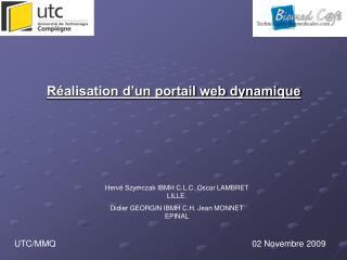 Réalisation d'un portail web dynamique