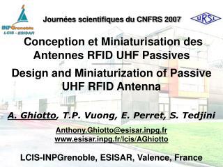 Conception et Miniaturisation des Antennes RFID UHF Passives  ───────────────