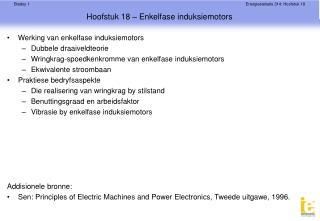 Hoofstuk 18 – Enkelfase induksiemotors