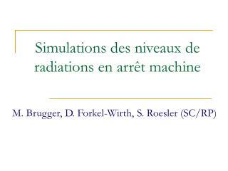 Simulations des niveaux de radiations en arrêt machine