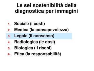 Le sei sostenibilit� della diagnostica per immagini