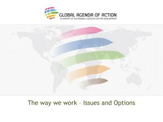 The way we work – Issues and Options