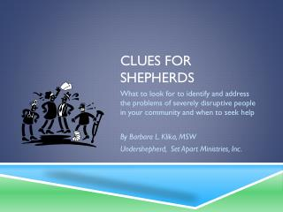 Clues for Shepherds