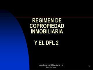 REGIMEN DE  COPROPIEDAD  INMOBILIARIA