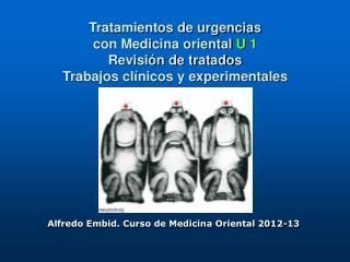 Alfredo Embid. Curso de Medicina Oriental 2012-13