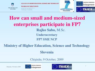 How can small and medium-sized enterprises participate in FP7