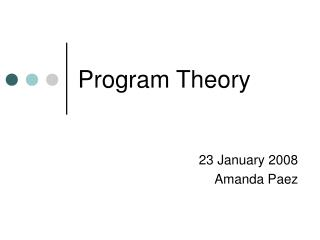 Program Theory