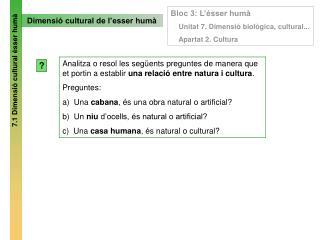 Dimensió cultural de l'esser humà